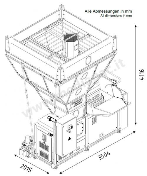 StyroPress shredder silo